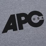 Мужская футболка A.P.C. Johnny Heather Grey фото- 2