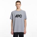 Мужская футболка A.P.C. Johnny Heather Grey фото- 3