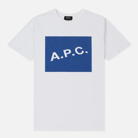 Мужская футболка A.P.C. Kraft Dark Blue