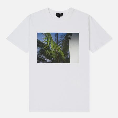 Мужская футболка A.P.C. Palm Tree White