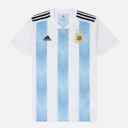 Мужская футболка adidas Football Argentina Home Replica Jersey White/Clear Blue/Black