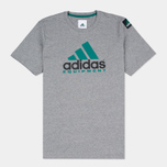 Мужская футболка adidas Originals EQT Logo Grey фото- 0