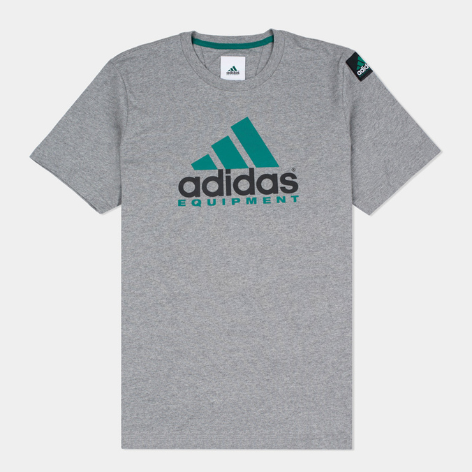 6a2fffbc Мужская футболка adidas Originals EQT Logo Grey AY9226