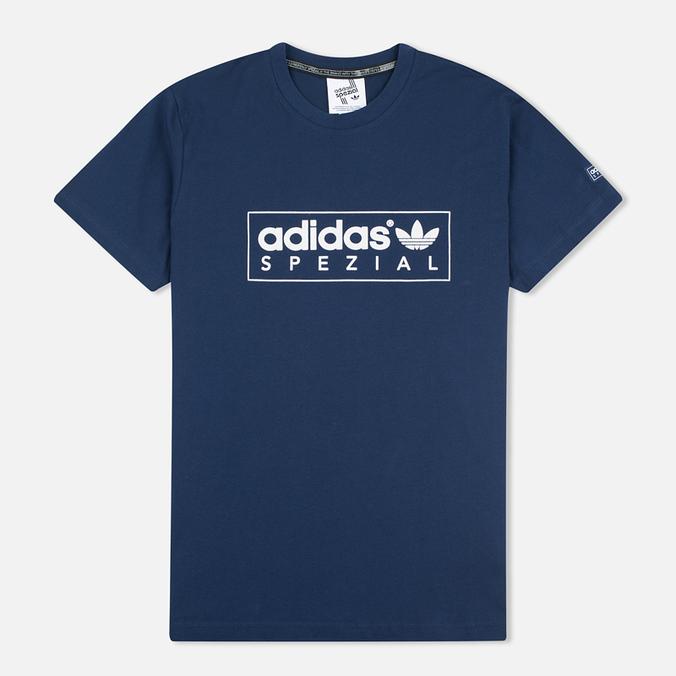 Мужская футболка adidas Originals Spezial Box Logo Navy