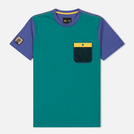 Мужская футболка adidas Originals x Pharrell Williams HU Hiking Purple/Green