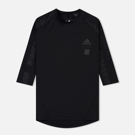Мужская футболка adidas Originals x Undefeated Alphaskin Tech 3/4 Black