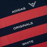 Мужская футболка adidas Originals x White Mountaineering AOWM Collegiate Navy фото- 2