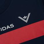 Мужская футболка adidas Originals x White Mountaineering AOWM Collegiate Navy фото- 3