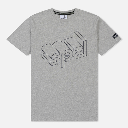 Мужская футболка adidas Spezial Wireframe Medium Grey Heather