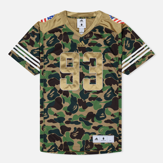 Мужская футболка adidas x Bape Superbowl Jersey Multicolor