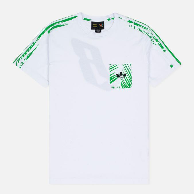 Мужская футболка adidas Consortium x Pharrell Williams BBC Palm Tree Tee White/Green