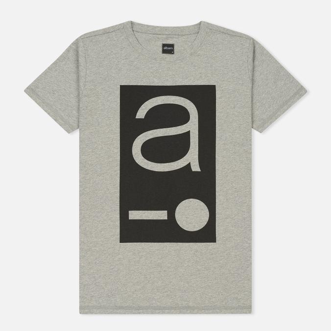 Мужская футболка Albam Code Logo Grey