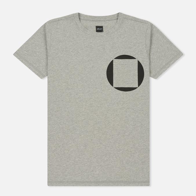Мужская футболка Albam Factory Logo Grey