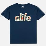 Мужская футболка Alife Floral Fill SS Navy фото- 0