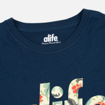 Мужская футболка Alife Floral Fill SS Navy фото- 1
