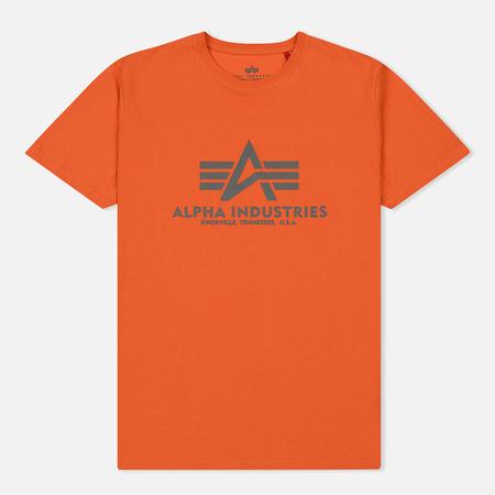 Мужская футболка Alpha Industries Basic Flame Orange