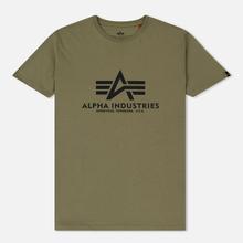 Мужская футболка Alpha Industries Basic Olive фото- 0
