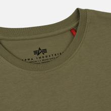 Мужская футболка Alpha Industries Basic Olive фото- 1