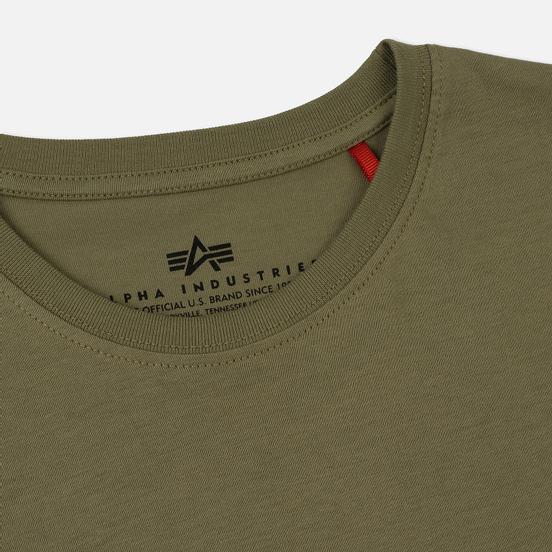Мужская футболка Alpha Industries Basic Olive