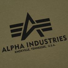 Мужская футболка Alpha Industries Basic Olive фото- 2