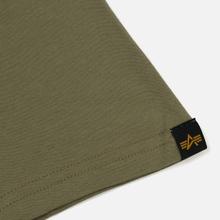 Мужская футболка Alpha Industries Basic Olive фото- 3