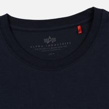 Мужская футболка Alpha Industries Basic Replica Blue фото- 3
