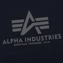 Мужская футболка Alpha Industries Basic Replica Blue фото- 1