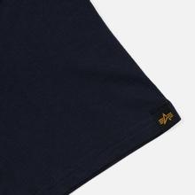 Мужская футболка Alpha Industries Basic Replica Blue фото- 2