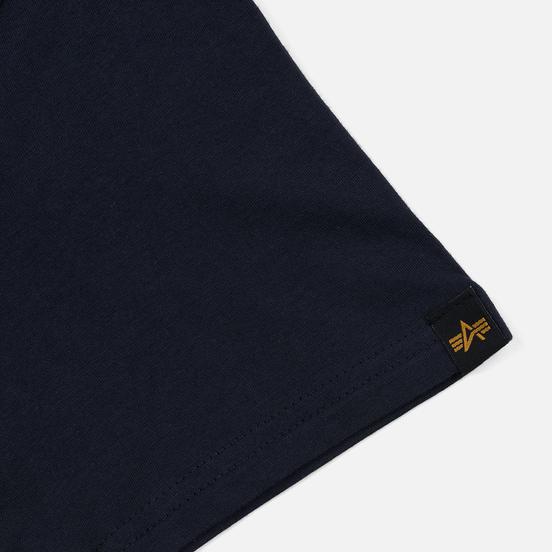 Мужская футболка Alpha Industries Basic Replica Blue