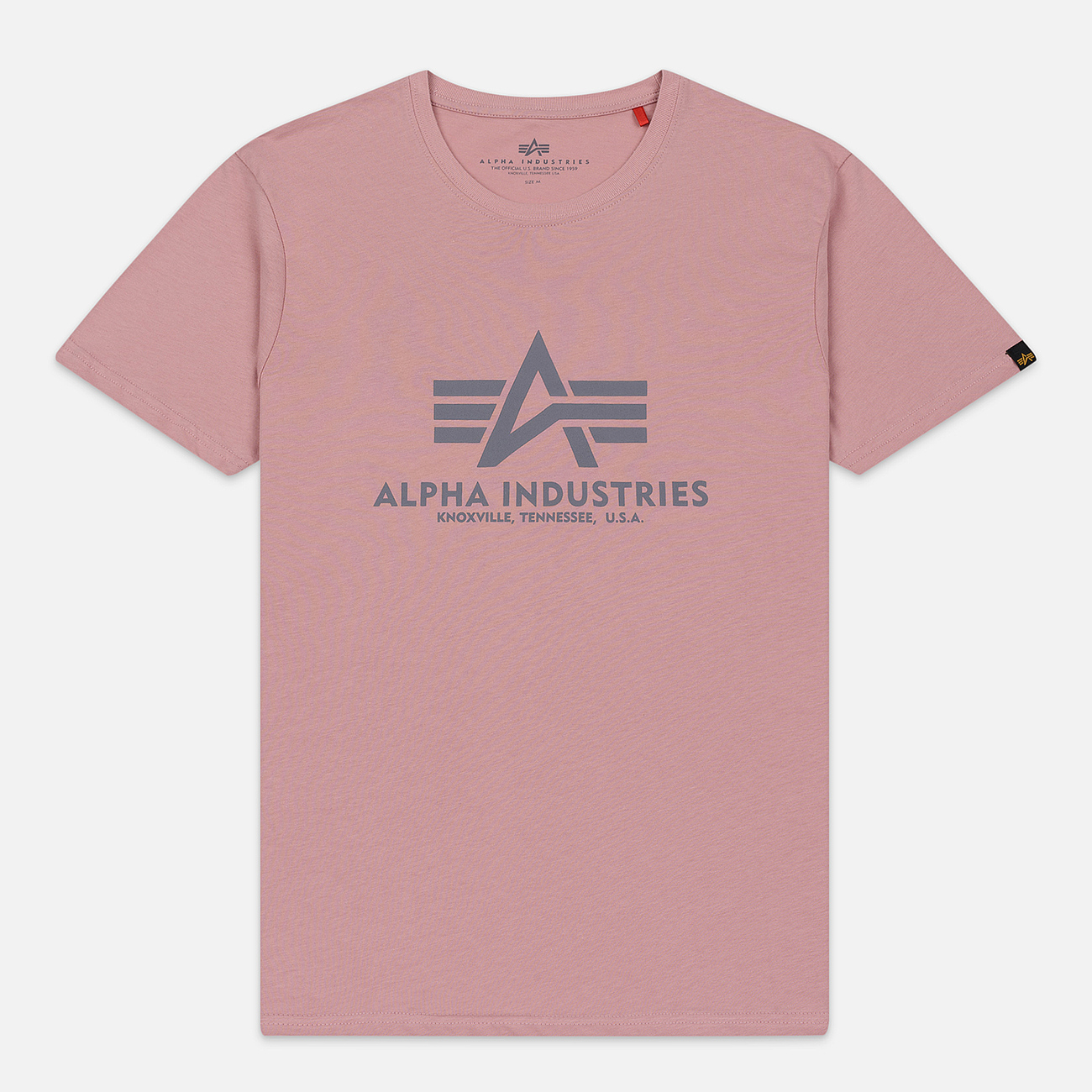 Мужская футболка Alpha Industries Basic Silver Pink