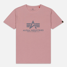 Мужская футболка Alpha Industries Basic Silver Pink фото- 0