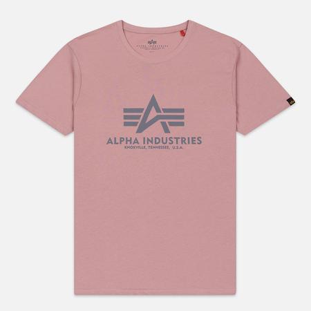 Мужская футболка Alpha Industries Basic Silver Pink