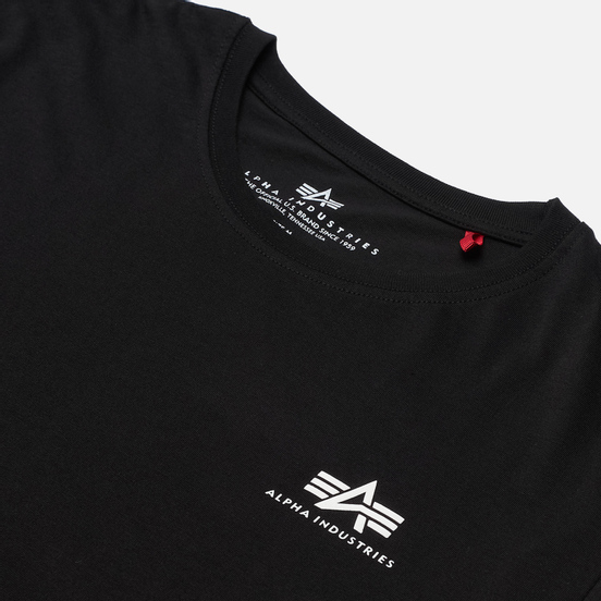 Мужская футболка Alpha Industries Basic Small Logo Black
