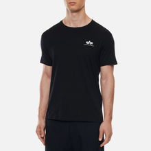 Мужская футболка Alpha Industries Basic Small Logo Black фото- 2