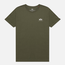 Мужская футболка Alpha Industries Basic Small Logo Dark Olive фото- 0