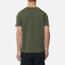 Мужская футболка Alpha Industries Basic Small Logo Dark Olive фото- 3