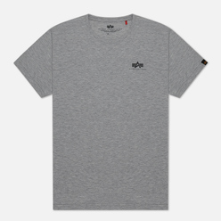 Мужская футболка Alpha Industries Basic Small Logo Grey Heather