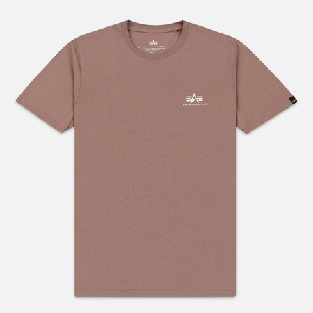 Мужская футболка Alpha Industries Basic Small Logo Mauve