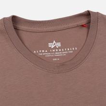 Мужская футболка Alpha Industries Basic Small Logo Mauve фото- 1