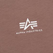 Мужская футболка Alpha Industries Basic Small Logo Mauve фото- 2