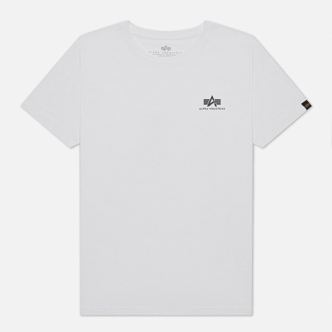 Мужская футболка Alpha Industries Basic Small Logo White