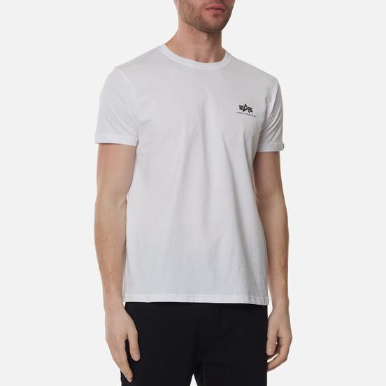 Мужская футболка Alpha Industries Basic Small Logo White