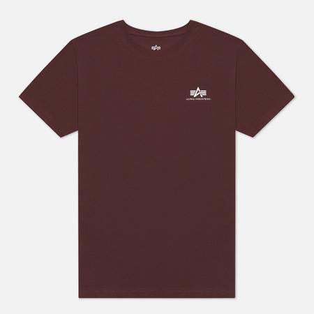 Мужская футболка Alpha Industries Basic Small Logo Wine Red
