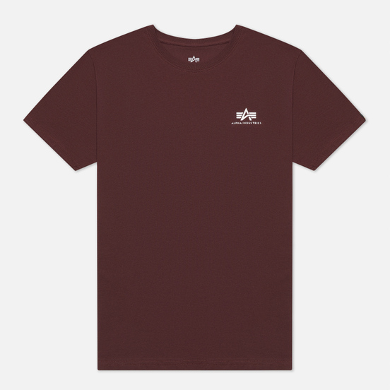 Мужская футболка Alpha Industries Basic Small Logo Wine Red