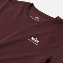 Мужская футболка Alpha Industries Basic Small Logo Wine Red фото- 1