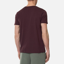 Мужская футболка Alpha Industries Basic Small Logo Wine Red фото- 3