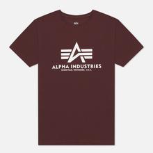 Мужская футболка Alpha Industries Basic Wine Red фото- 0
