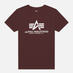 Мужская футболка Alpha Industries Basic Wine Red
