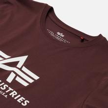 Мужская футболка Alpha Industries Basic Wine Red фото- 1