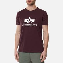 Мужская футболка Alpha Industries Basic Wine Red фото- 2